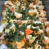 鶏肉と白菜の旨煮、大葉添え