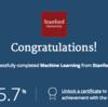 Courseraの機械学習のコース完走した