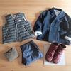 新しいジャケットと、通知表渡しの 今日の服