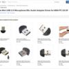 RaspberryPi 3 に接続するUSB小型マイクをeBayから163円で購入する(PayPal使用)