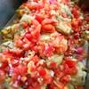 グリルチキン トマトのソース