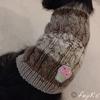 セリアの毛糸「cakeケーク」で編むチワワのセーターとアームウォーマー