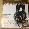 AKG K240 studioのヘッドフォンを買った