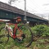 強風平地ライドのお楽しみは阪急桂川鉄橋で鉄分補給