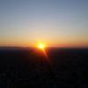 夕陽を、朝陽を見る