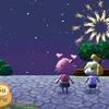 【とびだせどうぶつの森 北米版】花火大会でのプレゼント fireworks show