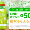 【1アカウント5回まで】お~いお茶再び!新緑購入で50LINEポイントがもらえる!