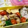 ヨメさん弁当~豚コマとニラモヤシ炒め・手羽元の煮物・出し巻き~