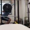 自主練 バーベルスクワット 筋力アップの日-大阪 梅田 パーソナルトレーニング effort