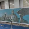 金沢マラソンに合せた黒板アートを早めに見に行った