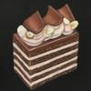 茶色系のケーキはチョークアートで美味しそうに描ける?