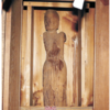 門前で平安後期の「観音像」が神社で発見されました (p゚∀゚q)