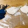 布マスク、手作りで大量生産中