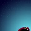 星空を見上げるぷちゴン(iPhone壁紙)(Photoshop)|ぷちゴン