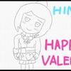 バレンタインなイラストの下書きが出来ました。