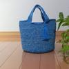 違素材で編んだバッグのご紹介。