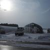 強風によりビニールハウスのビニールが裂けてしまいました