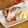 今朝のフレンチトースト〜パサパサ食パンを有効活用〜