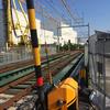 JR宝塚線-園田西武庫線アンダーパス工事の状況2018-07-15