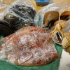 北海道の友だちから送られた魚貝類!