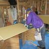 新築戸建て注文住宅の施工(天井板の設置)