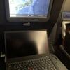 オーストラリア・カンタス航空のエコノミークラスで使うThinkPad X1 Carbon