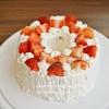 【スイーツづくり】シフォンケーキでデコレーションケーキ/Decorated Tube Cake