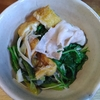 豚肉と太ネギと青菜の蒸し煮