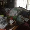 【不要品処分】小タンスや布団やカラーボックスや服や分割式のソファの処分作業‐大阪府池田市‐