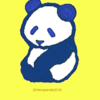 三連休最終日 パンダのイラスト