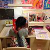 コイズミ学習机、買いました!(2017年4月から小学生)シンプルで、コンパクト。かわいくて、おすすめです。