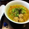 【今週のラーメン547】 らぁ麺Cliff (大阪・大阪城北詰) つくねとオクラの冷やしらぁ麺