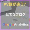 はてなブログとGoogle analyticsのpv数が違うので設定してみた。