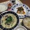 かじきまソテーときのこの豆乳味噌スープ