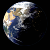 Blender 316日目。「地球のモデリング」その7~大気の表現②~。