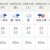 天気予報で絶望