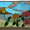 バラとユリのステンドグラス 完成
