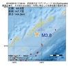 2016年09月18日 17時58分 択捉島付近でM3.8の地震