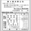 Bytedance株式会社 第4期決算公告