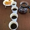 秋のお菓子とコーヒーを楽しむ