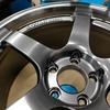 自動車ボディコーティング#128  ヨコハマ/アドバンレーシングGT(マシニング&レーシングメタルブラック) 18インチホイール表裏+センターハブキャップコーティング