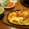 札幌市 喫茶店 北都館 / チーズ+ハンバーグ+ミートソース
