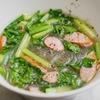小松菜とウインナーの春雨スープのレシピ