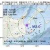 2017年08月05日 23時10分 国後島付近でM3.0の地震