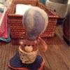 minamiwaニットカフェ@表参道ナルーカフェ「気球に乗って」の制作風景♪