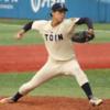 コントロールよくストレートを投げる投手 桐蔭横浜大 三浦 裕作選手 大卒右腕投手
