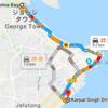 MOOVITというアプリ Rapid Penang(バス)路線経路の検索ができた!