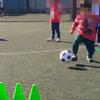 4歳の息子を連れて運動系の体験教室に参加、サッカーをしてきました。