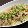 キャベツと豚肉の胡麻味噌煮込みのレシピ