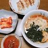 〔一人暮らし料理〕 稲庭ラーメンと餃子